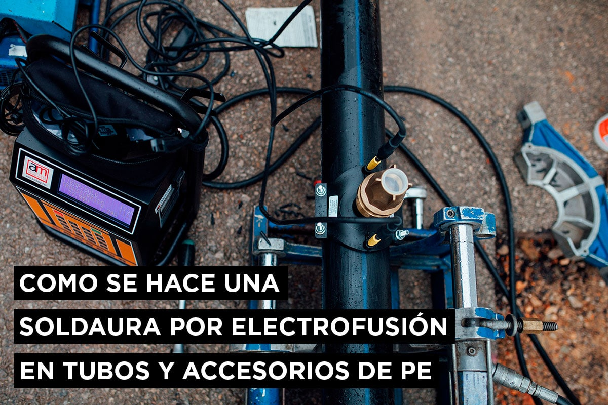 Como se hace una soldadura por Electrofusión en tubos y accesorios de PE 9