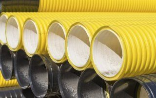 The diameters of the PE pipes 20
