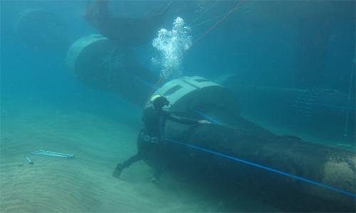 reparación submarina emisario