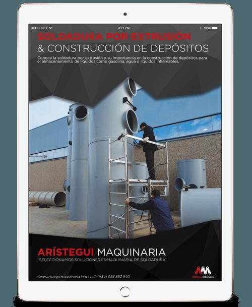 Soldadura por extrusión y construcción de depósitos