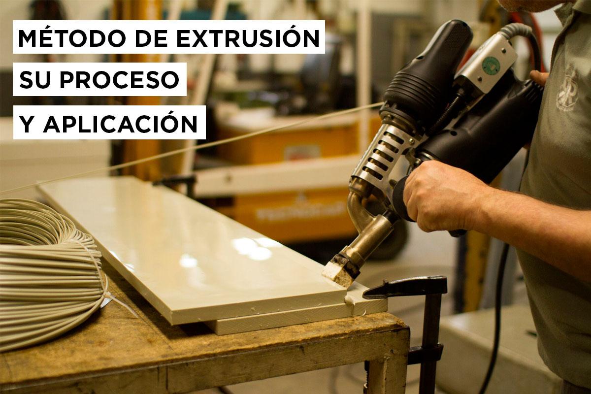Método de extrusión su proceso y aplicación. 12