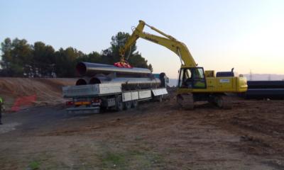 Instalación de tuberías para abastecimiento, riego y saneamiento: Transporte, recepción, descarga  y almacenaje de tubos 5