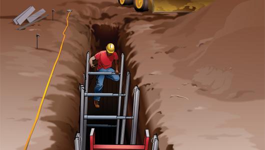 Instalación de tuberías para abastecimiento, riego y saneamiento: Construcción de la zanja 2