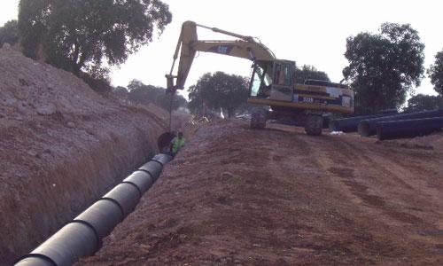 Instalación de tuberías para abastecimiento, riego y saneamiento: Construcción de la zanja 5