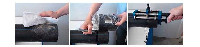 Preparación y raspado de los tubos para la soldadura por electrofusión 3