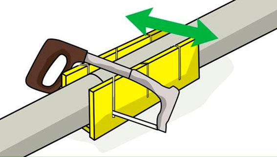 Cómo cortar tubería de PVC 3