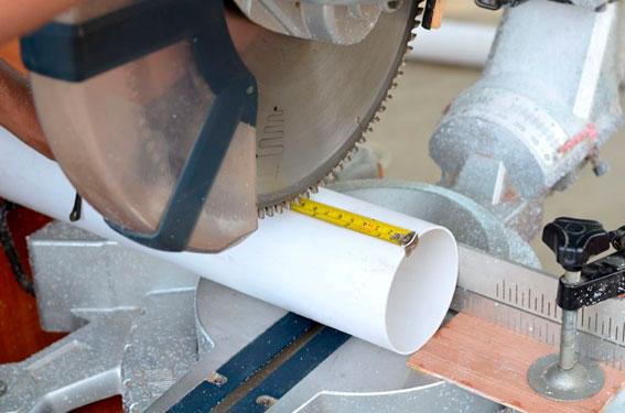 Cómo cortar tubería de PVC 1