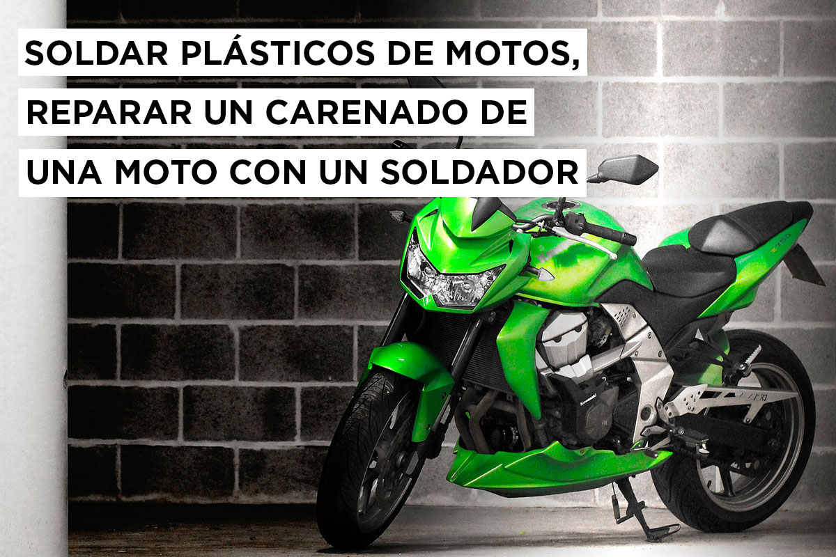 Soldar plásticos de motos: reparar el carenado de una moto con un soldador 11