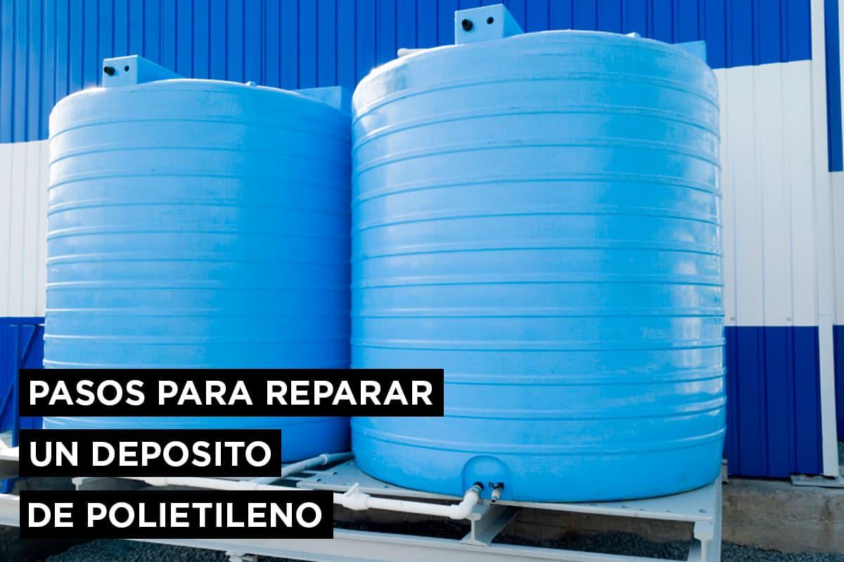 Pasos para reparar un depósito de polietileno 8